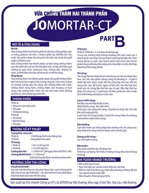 Vữa chống thấm hai thành phần JOMORTAR-CT